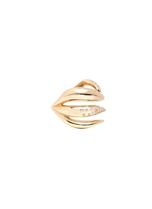 Detail View - Click To Enlarge - Michelle Campbell - Galaxy Thorn' diamond 14k gold open ring