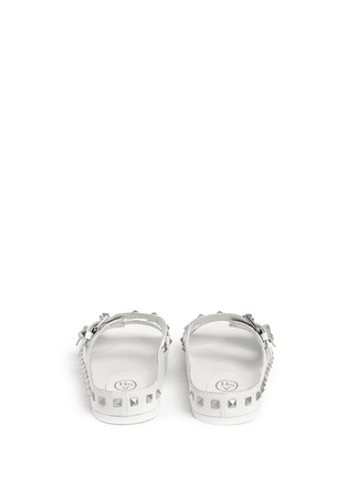 Back View - Click To Enlarge - Ash - 'Utopia' stud leather slide sandals