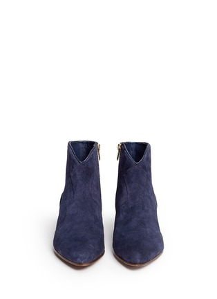 Front View - Click To Enlarge - Ash - 'Hurrican' suede cowboy ankle boots