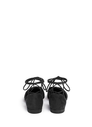 Back View - Click To Enlarge - Stuart Weitzman - 'Gilligan' lace-up d'Orsay flats