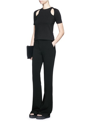 Figure View - Click To Enlarge - T By Alexander Wang - Cutout ponte knit top