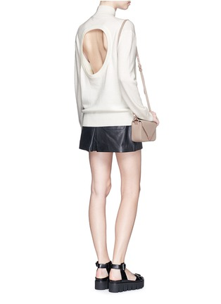 Figure View - Click To Enlarge - T By Alexander Wang - Cutout back Merino wool turtleneck sweater