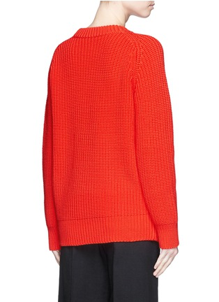 Back View - Click To Enlarge - T By Alexander Wang - Oversize cotton blend cable knit sweater