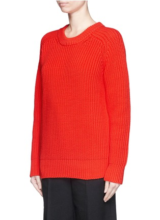 Front View - Click To Enlarge - T By Alexander Wang - Oversize cotton blend cable knit sweater
