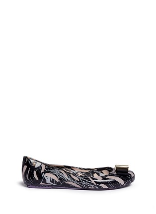 Main View - Click To Enlarge - Melissa - x Jason Wu 'Space Love II' marble print bow flats