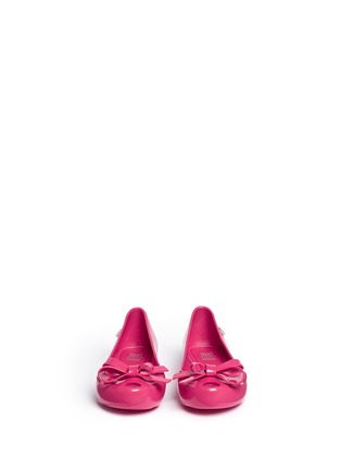 Figure View - Click To Enlarge - Melissa - 'Ultragirl Bow II' PVC kids flats
