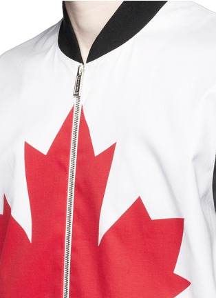 Detail View - Click To Enlarge - Dsquared2 - Canadian Maple Leaf print bomber jacket