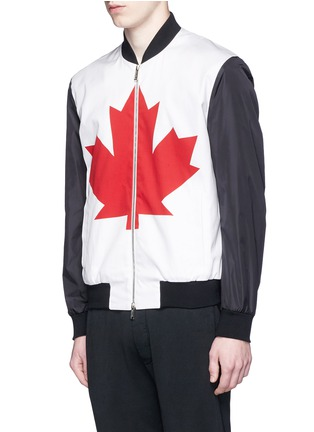 Front View - Click To Enlarge - Dsquared2 - Canadian Maple Leaf print bomber jacket