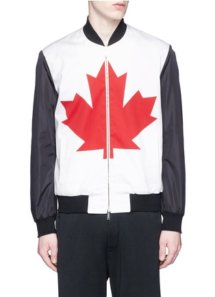 Main View - Click To Enlarge - Dsquared2 - Canadian Maple Leaf print bomber jacket