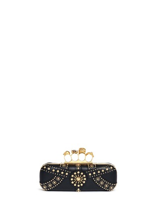 Main View - Click To Enlarge - Alexander McQueen - Stud skull leather knuckle clutch