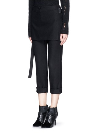 Front View - Click To Enlarge - 3.1 Phillip Lim - Apron front stitch down cuff pants