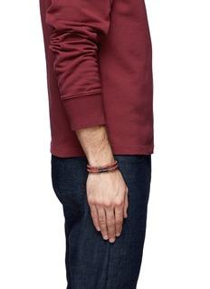 Tateossian Edinburgh' plaid leather double wrap bracelet