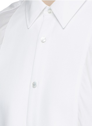 Detail View - Click To Enlarge - Gucci - Piqué bib tuxedo shirt