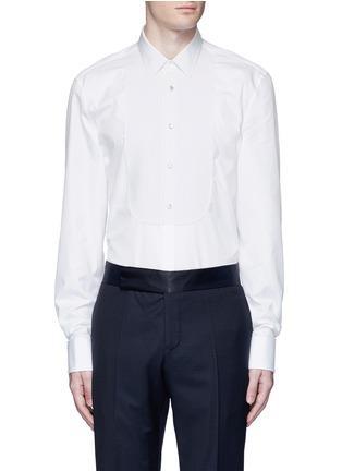 Main View - Click To Enlarge - Gucci - Piqué bib tuxedo shirt