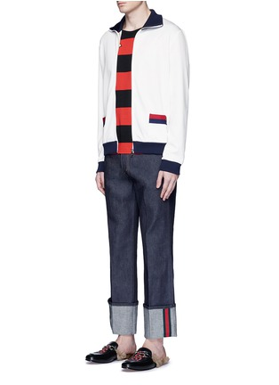 Figure View - Click To Enlarge - Gucci - Bee embroidery track jacket