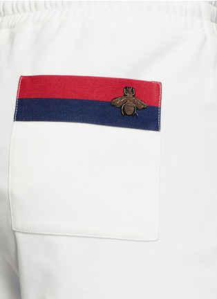 Detail View - Click To Enlarge - Gucci - Bee embroidery track shorts