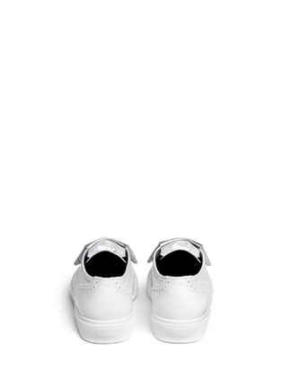 Back View - Click To Enlarge - Robert Clergerie - 'Tolk' detachable kiltie leather brogue sneakers