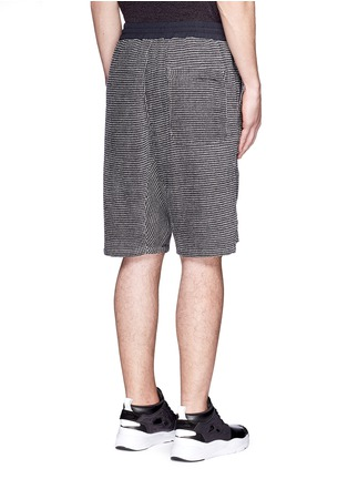 Back View - Click To Enlarge - NLST - Bouclé knit sweat shorts