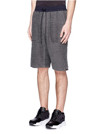 Front View - Click To Enlarge - NLST - Bouclé knit sweat shorts