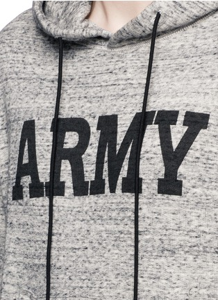 Detail View - Click To Enlarge - NLST - 'Army' print mélange cotton terry hoodie