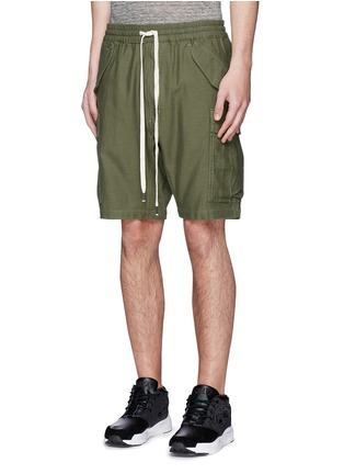 Front View - Click To Enlarge - NLST - Cotton cargo shorts