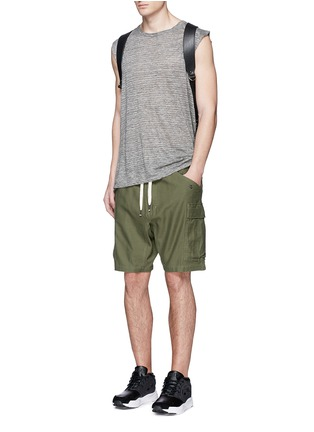 Figure View - Click To Enlarge - NLST - Cotton cargo shorts
