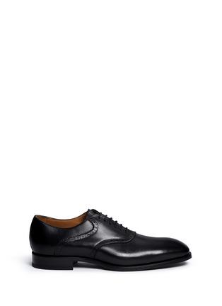 Main View - Click To Enlarge - Rolando Sturlini - 'Parma' brogue detail leather Oxfords