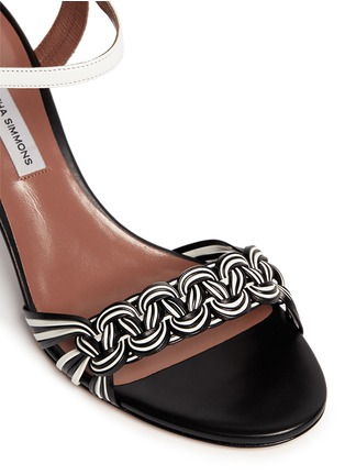 Detail View - Click To Enlarge - TABITHA SIMMONS - 'BOP' braided leather sandals