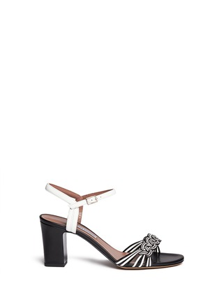 Main View - Click To Enlarge - TABITHA SIMMONS - 'BOP' braided leather sandals