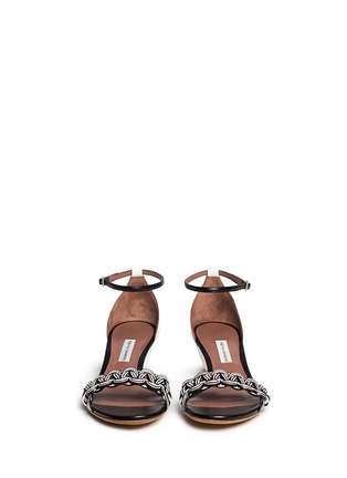 Front View - Click To Enlarge - TABITHA SIMMONS - 'Lotti' braided leather wedge sandals