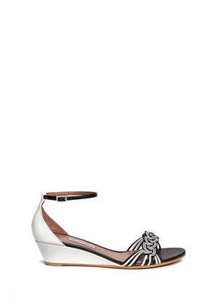 Main View - Click To Enlarge - TABITHA SIMMONS - 'Lotti' braided leather wedge sandals