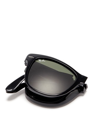 Detail View - Click To Enlarge - Ray-Ban - 'Wayfarer Folding Classic' acetate sunglasses