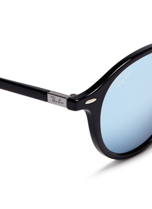 Detail View - Click To Enlarge - Ray-Ban - 'RB4237 Liteforce' thermoplastic round mirror sunglasses