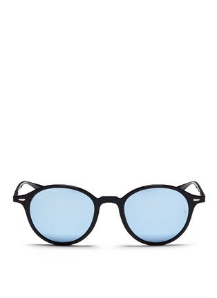 Main View - Click To Enlarge - Ray-Ban - 'RB4237 Liteforce' thermoplastic round mirror sunglasses