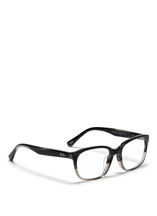 Figure View - Click To Enlarge - RAY-BAN - 'RB5340' tortoiseshell ombré effect acetate optical glasses