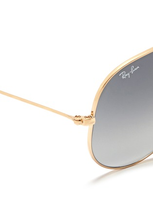 Detail View - Click To Enlarge - Ray-Ban - 'Aviator Large Metal' gradient sunglasses