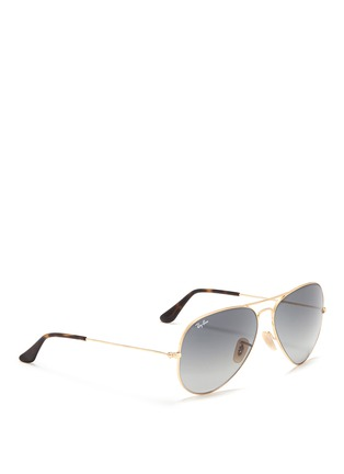 Figure View - Click To Enlarge - Ray-Ban - 'Aviator Large Metal' gradient sunglasses