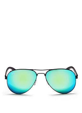Main View - Click To Enlarge - Ray-Ban - 'RB3523' metal aviator mirror sunglasses