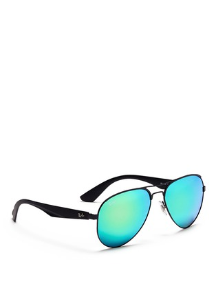 Figure View - Click To Enlarge - Ray-Ban - 'RB3523' metal aviator mirror sunglasses