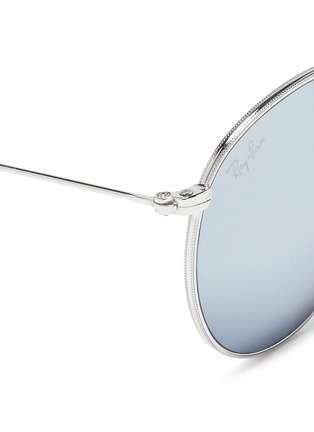 Detail View - Click To Enlarge - Ray-Ban - 'RB3532 Folding Round' metal sunglasses