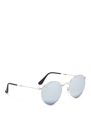 Figure View - Click To Enlarge - Ray-Ban - 'RB3532 Folding Round' metal sunglasses