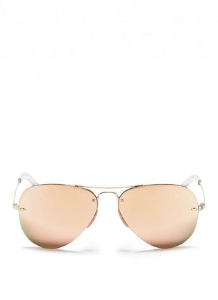 Main View - Click To Enlarge - RAY-BAN - Metal aviator mirror sunglasses