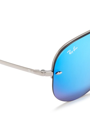 Detail View - Click To Enlarge - Ray-Ban - Metal aviator mirror sunglasses