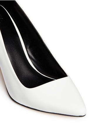 Detail View - Click To Enlarge - Pedder Red - Wooden heel leather pumps