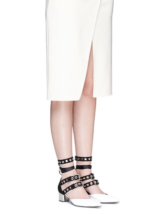Figure View - Click To Enlarge - CLERGERIE - x Robert Clergerie 'Susa' eyelet strappy patent leather pumps