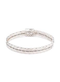 John Hardy 18k yellow gold silver weave effect link chain bracelet