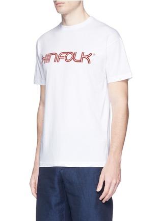 Front View - Click To Enlarge - KINFOLK - Logo print T-shirt