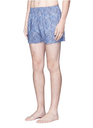 Figure View - Click To Enlarge - Sunspel - Liberty paisley print boxer shorts