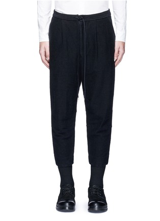 Main View - Click To Enlarge - The Viridi-anne - Textured cotton drawstring sweatpants