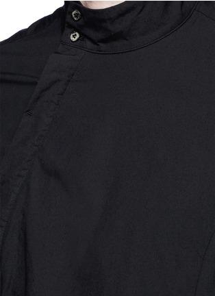 Detail View - Click To Enlarge - The Viridi-anne - Asymmetric button collar cotton shirt